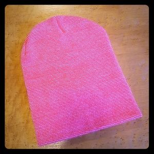 Free People Pink Striped Beanie